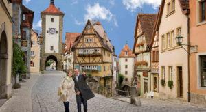 Die weltberühmte Altstadt von Rothenburg ob der Tauber