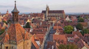 Historische, mittelalterliche Stadt Rothenburg ob der Tauber