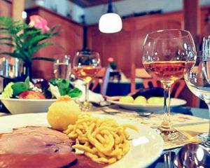 Fränkische Spezialitäten im Restaurant Schranne