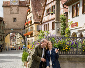 Historisches Ambiente in Rothenburg ob der Tauber