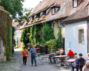 Romantische Gassen in Rothenburg ob der Tauber