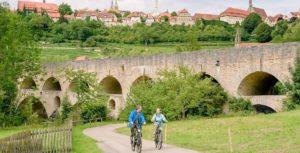 Radfahren im historischen Rothenburg ob der Tauber