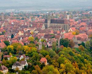 Rothenburg ob der Tauber im Herbst