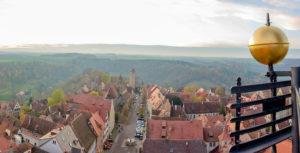 Aussicht vom Rathausturm in Rothenburg ob der Tauber