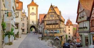Der weltberühmte Plönlein in Rothenburg ob der Tauber