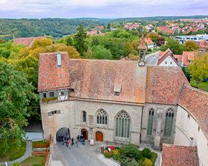 Klingenbastei und St. Wolfgang in Rothenburg ob der Tauber