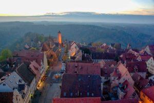 Panorama über die Altstadt von Rothenburg ob der Tauber