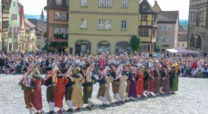 Historischer Schäfertanz in Rothenburg ob der Tauber