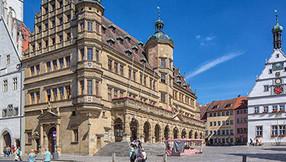 Historisches Rathaus in Rothenburg ob der Tauber