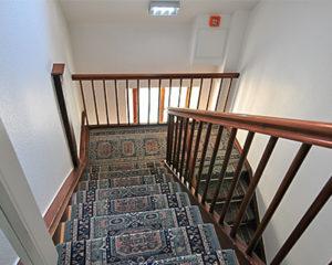 Sicherheit im Treppenhaus im Hotel Schranne